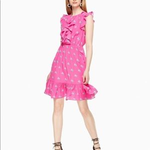 Kate Spade silk hummingbird print dress size 2